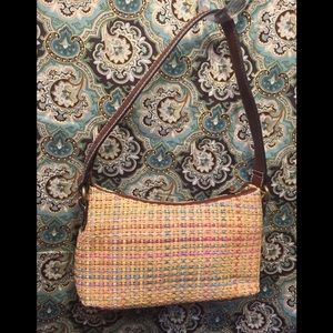 Fossil Straw Weave Inspired Bag